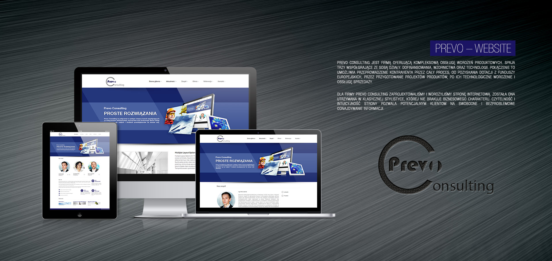 Prevo consulting website for Consulting website